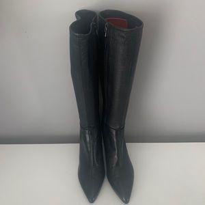 Prada Black Nappa Leather Boots size EU 40